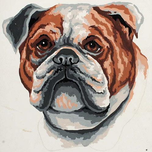 Grafitec Printed Tapestry Bulldog