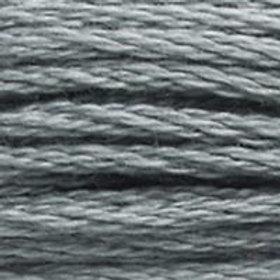 DM117-0169 STRANDED COTTON 8M SKEIN Pewter Grey