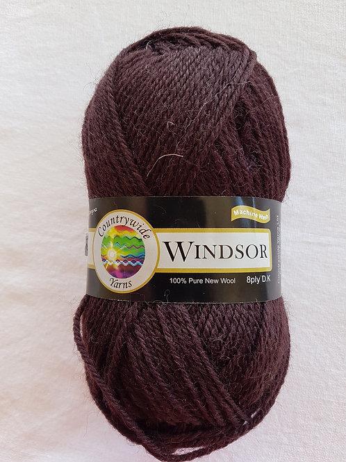 Windsor Standard 8 PLY DK 100% Wool 50gm Dark Chocolate