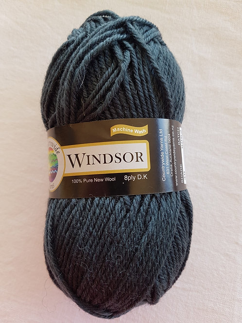 Windsor Standard 8 PLY DK 100% Wool 50gm Charcoal