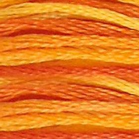 DM117-0051 STRANDED COTTON 8M SKEIN Variegated Burnt Orange