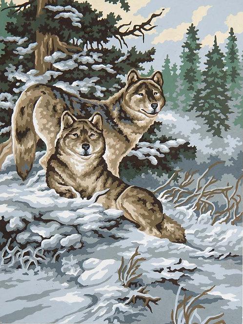 Grafitec Printed Tapestry Snow Wolves