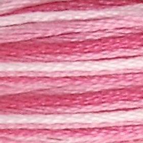 DM117-0048 STRANDED COTTON 8M SKEIN Variegated Baby Pink
