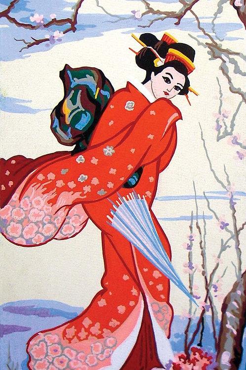 Grafitec Printed Tapestry Geisha in Winter