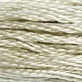 DM117-0644 STRANDED COTTON 8M SKEIN Light Green Grey