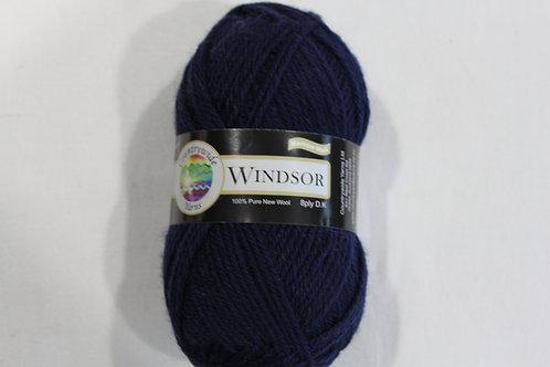 Windsor Standard 8 PLY DK 100% Wool 50gm Navy