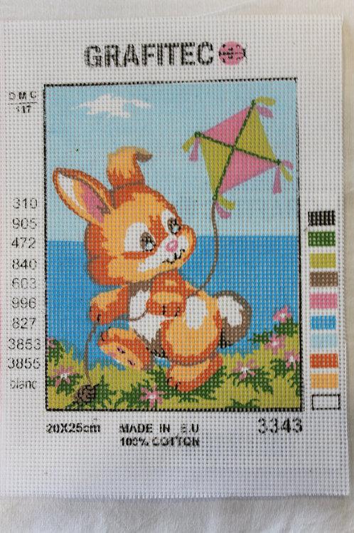 Grafitec Printed Tapestry Kite Bunny