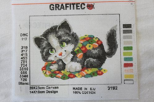 Grafitec Printed Tapestry Patchwork Kitten