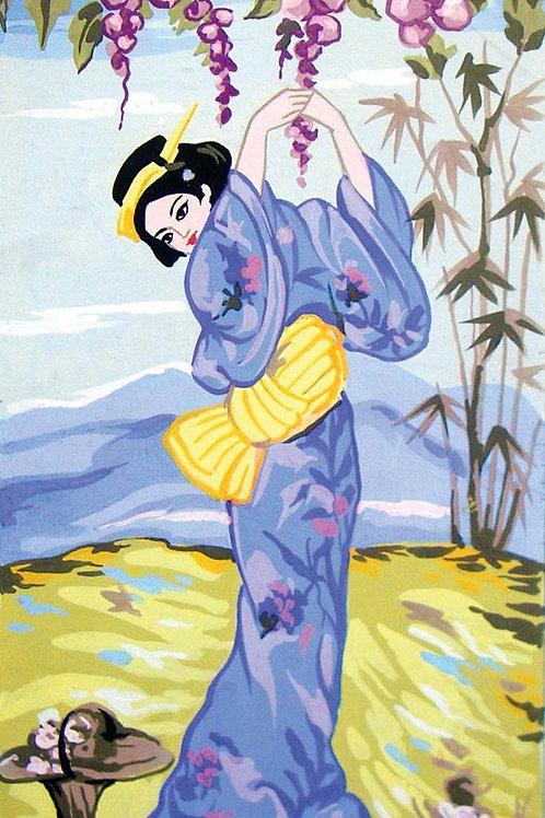 Grafitec Printed Tapestry Geisha in Autumn