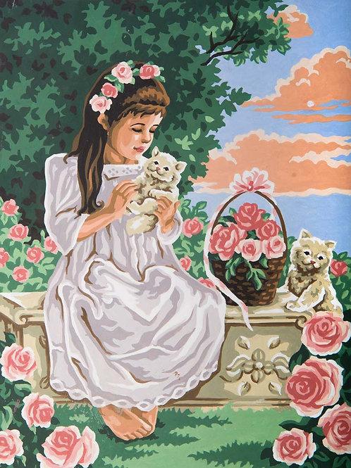 Grafitec Printed Tapestry Girl & Kittens