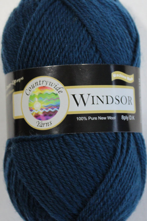 Windsor Standard 8 PLY DK 100% Wool 50gm Dark Blue Sea