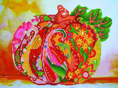 Diamond Dotz Autumn Pumpkin Rose Sparkle