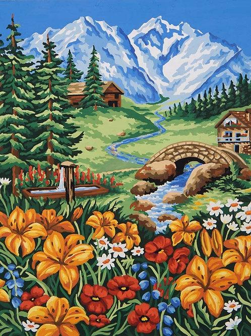 Grafitec Printed Tapestry Spring in Mountains
