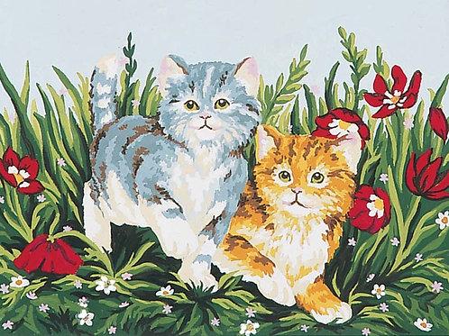 Grafitec Printed Tapestry Playful Kittens