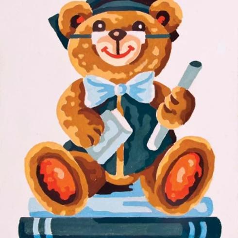 Grafitec Printed Tapestry Graduation Bear