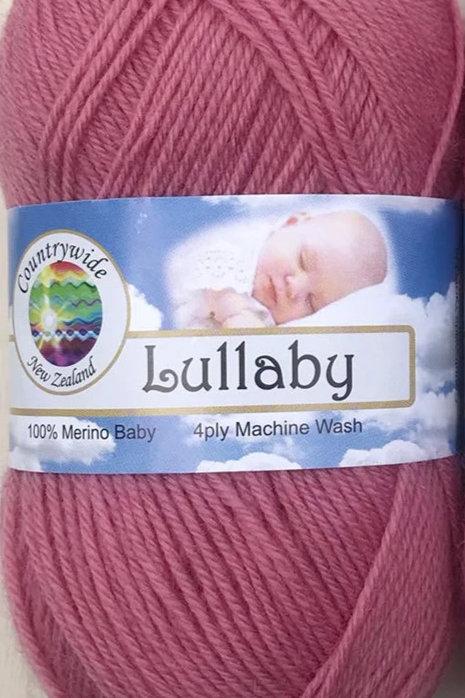 Lullaby 4 PLY DK 100% Merino 50gm Rose