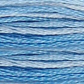DM117-0093 STRANDED COTTON 8M SKEIN Variegated Cornflower Blue