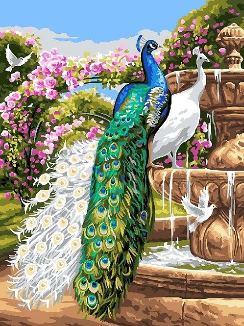 Grafitec Printed Tapestry Peacock Garden