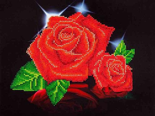 Diamond Dotz Red Rose Sparkle