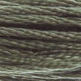 DM117-0646 STRANDED COTTON 8M SKEIN Platinum Grey