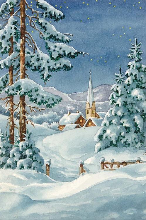 Grafitec Printed Tapestry Snow Chapel