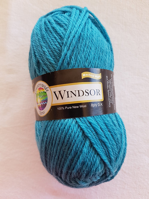 Windsor Standard 8 PLY DK 100% Wool 50gm Teal