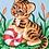 Thumbnail: Grafitec Printed Tapestry Baby Tiger