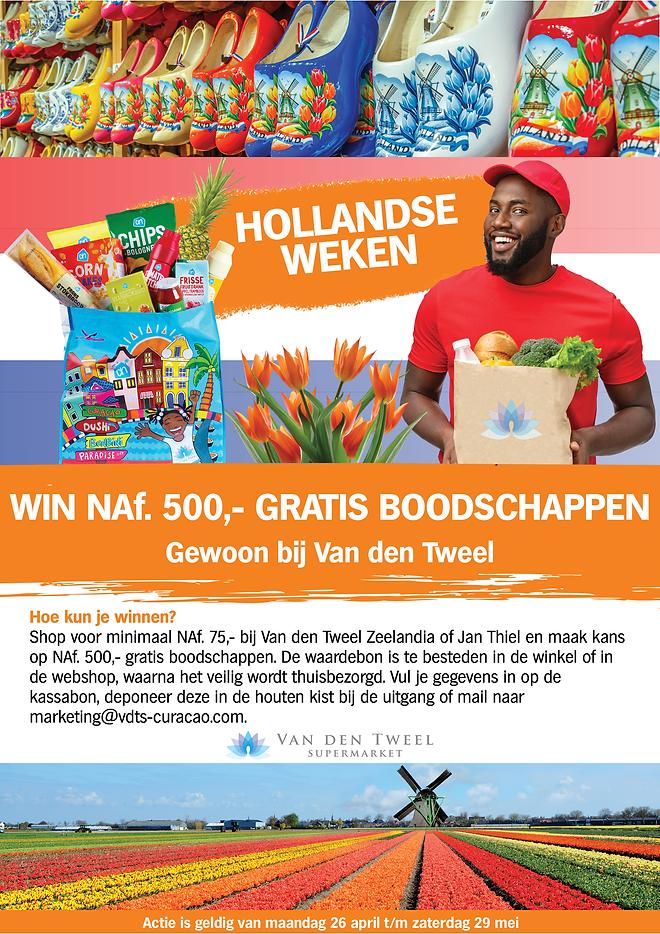 A4 formaat Hollandse weken winactie van
