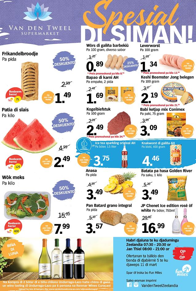 PAP Supermarkt Van den Tweel Curacao Zee
