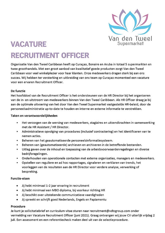 Vacature Van den Tweel Supermarket - Rec
