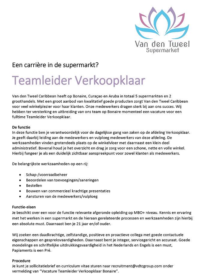 Vacature Bonaire Van den Tweel Supermarket - Teamleider verkoopklaar website.jpg