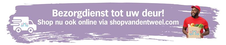 Banner online boodschappen van den tweel