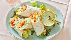 Wraps met jalapeño-mayonaise