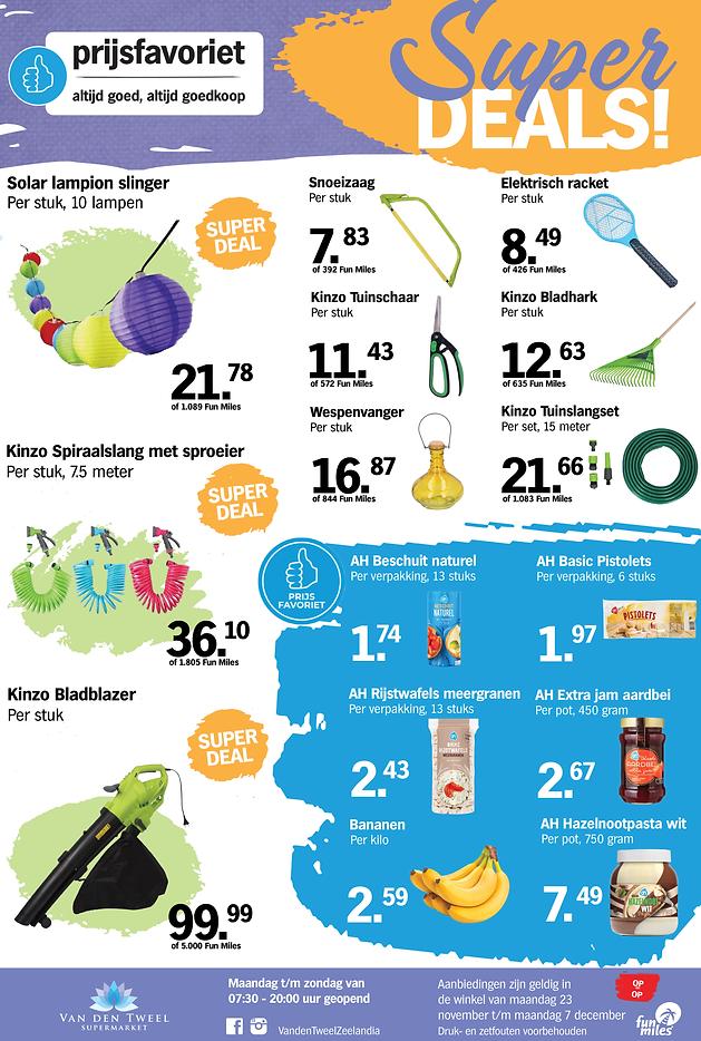 Super Deals Van den Tweel Supermarkt Cur