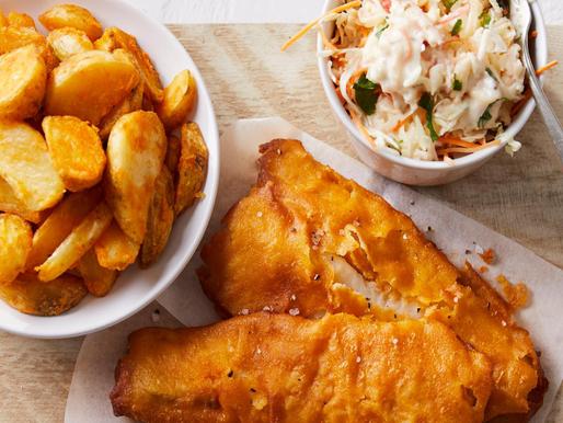 Fish & chips met spitskoolsla