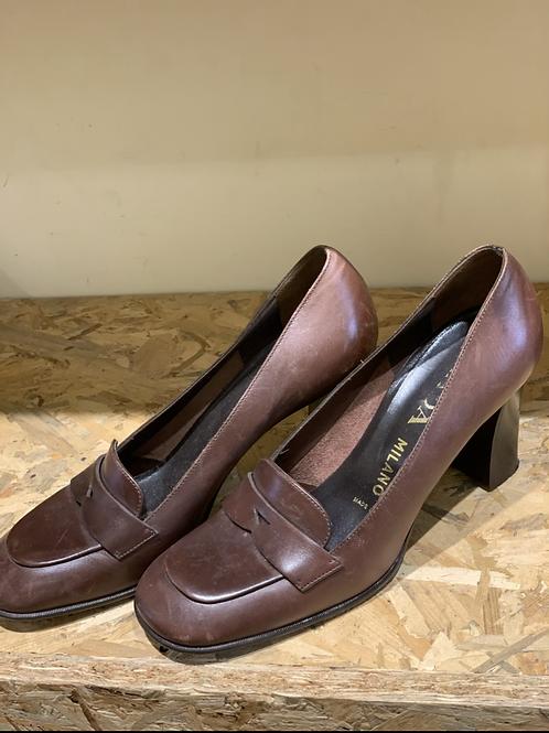 נעלי עור פראדה