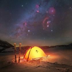 Zelt MSR Orion Nebel Deepsky