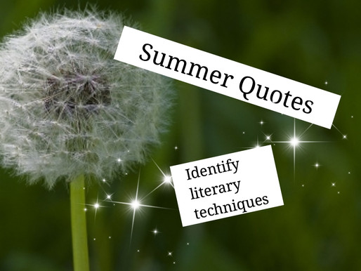 Activities for Summer Quotes