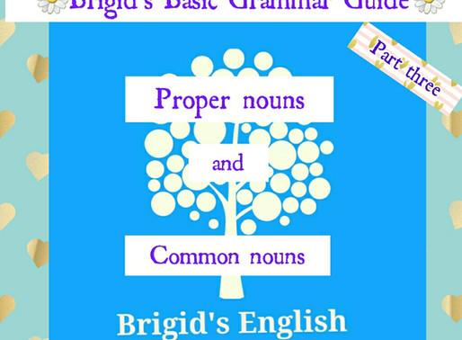 Proper & Common Nouns