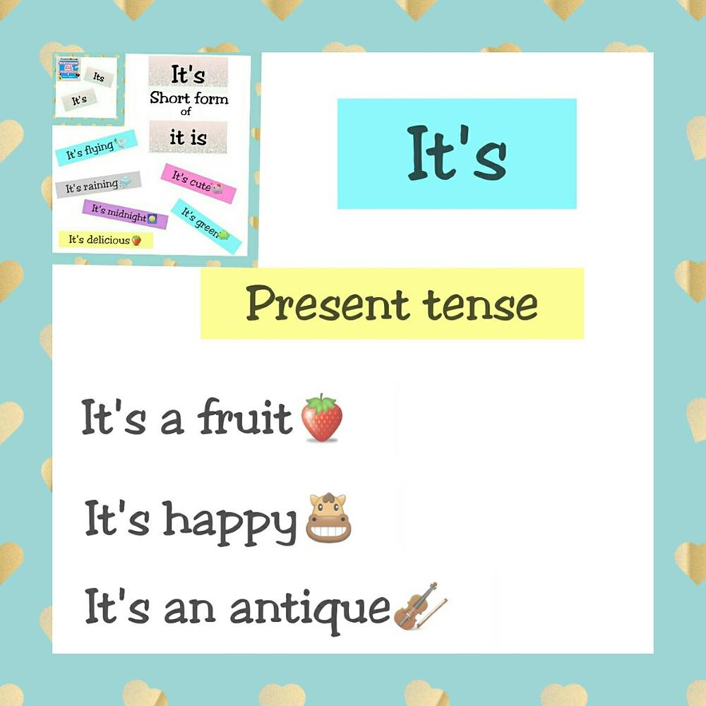 present tense it's happy