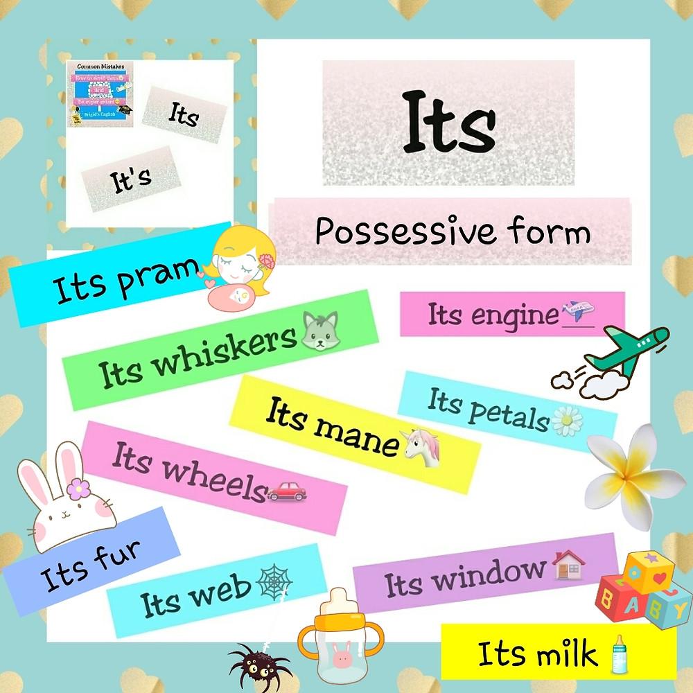 Its...possessive