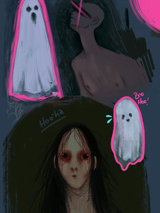 Horror paint tests