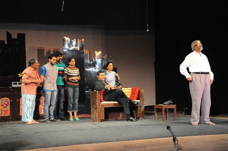 The play in progress, staged by Kriyative Theatre
