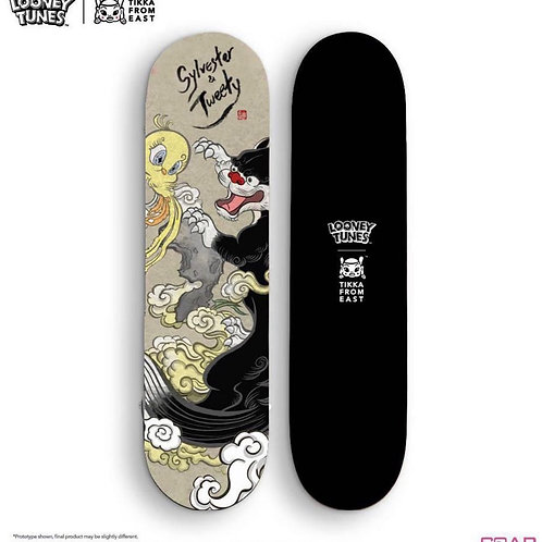 Tik Ka from east x Looney Tunes  skateboard
