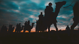 Riding camels in Israel