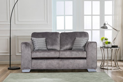 Axton 2-Seater in Elephant Fabric