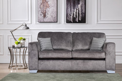 Axton 3-Seater in Elephant Fabric