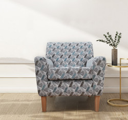 Darcy Accent Chair in Aztec Teal
