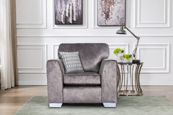 Axton Chair in Elephant Fabric