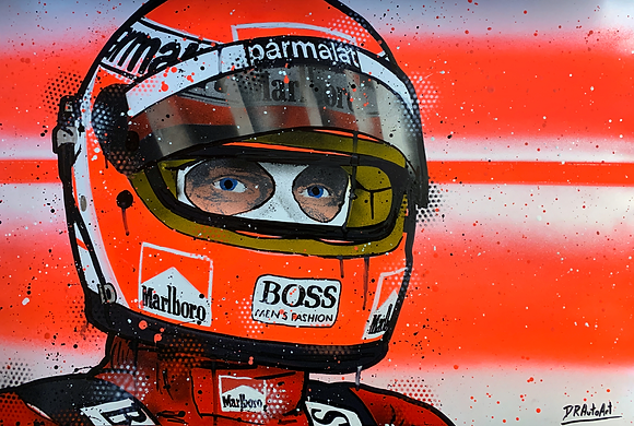 Niki Lauda - Graffiti Painting